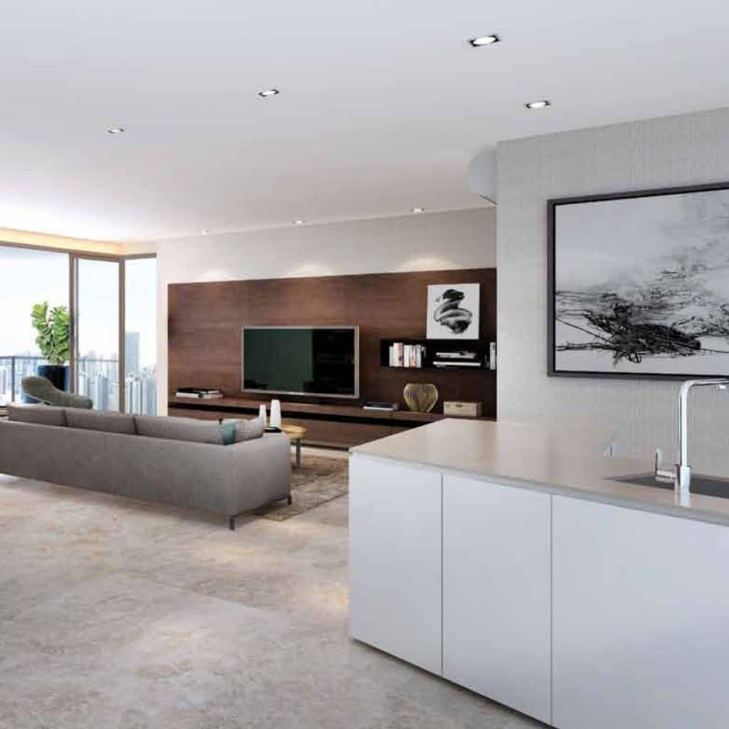Tv Feature Wall Singapore Modern Design With Tv Console